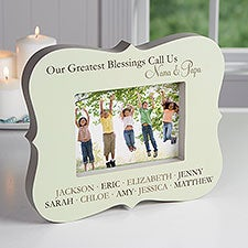 Personalized Grandkids Picture Frame Block - 16447