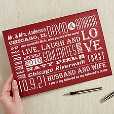 Our Life Together Personalized Greeting Card  - 16452