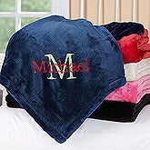 Personalized Fleece Blanket - All About Me - Name & Initial - 16461