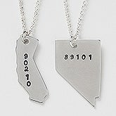 Personalized State Necklace - Zip Code - 16464D