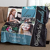 Personalized Fleece Photo Blanket - Favorite Faces - 16467