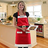Personalized Christmas Santa Apron - Embroidered Name - 16470