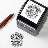 Personalized Return Address Stamp - Damask Design - 16472