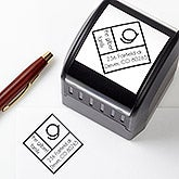 Personalized Address Stamp - Diamond Initial - 16475