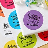 Personalized Gift Stickers - Happy Birthday - 16476