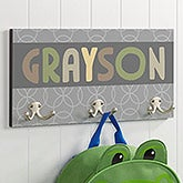 Personalized Coat Hangers - Boys - 3 Hooks - 16477