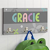 Girls Personalized Coat Hangers - 3 Hooks - 16478