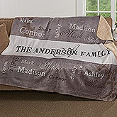 Personalized Sherpa Blanket - Our Loving Family - 16489