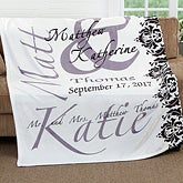 Personalized Wedding Fleece Blanket - The Wedding Couple - 16490
