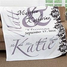 Personalized Wedding Fleece Blanket - The Wedding Couple - 16490