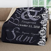 Personalized Romantic Sherpa Blanket - The Wedding Couple - 16491