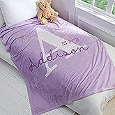 Personalized Kid Fleece Blankets - Alphabet Fun - 16492