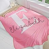 Personalized Kids Premium Sherpa Blanket - Alphabet Fun - 16493