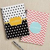 Personalized Mini Notebook Set - Preppy Chic - 16495