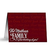 Personalized Note Cards - Family Is Love - 16498