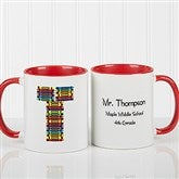 Crayon Letter Personalized Teacher Coffee Mug-11oz.- Red - 10034-R