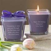 For The Birthday Girl Scented Glass Candle- Lavender & Linen - 10035-L