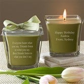 For The Birthday Girl Scented Glass Candle- Papaya & Bamboo - 10035-P
