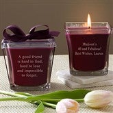 For The Birthday Girl Scented Glass Candle- Mulberry - 10035-M