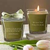 For Mom Scented Spa Candle- Papaya & Bamboo - 10046-P