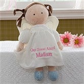 Embroidered Angel Doll-Brunette - 10073-B