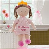 Embroidered Princess Doll-Brunette - 10074-B