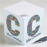 Crayon Letter Personalized Teacher Paper Note Cube - 10089