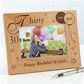 Birthday Memories Personalized Frame- 4 x 6 - 1010-S
