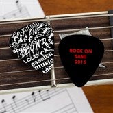 Rock On! Personalized Guitar Pick - 10107