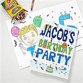 Happy Birthday Personalized Coloring Activity Book & Crayon Set - 10163