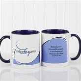 My Monogram Personalized Quote Coffee Mug- 11oz.- Blue - 10169-BL