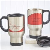 My Monogram© Personalized Travel Mug in 6 Colors - 10170