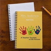 Touches a Life Personalized Teacher Mini Notebook Set of 4 - 10196