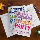 Birthday Fun For All Personalized Coloring Activity Book & Crayon Set - 10197