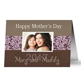 Mommy & Me Personalized Photo Greeting Card - 10206