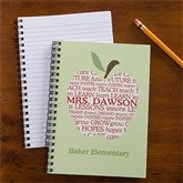 Apple Scroll Personalized Teacher Mini Notebook Set of 4 - 10207