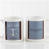 Legal Ease Personalized Legal Quote Mug 11oz.- White - 10218-S