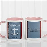 Legal Ease Personalized Legal Quote Mug 11oz.- Pink - 10218-P
