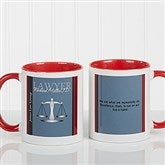 Legal Ease Personalized Legal Quote Mug 11oz.- Red - 10218-R