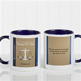 Legal Ease Personalized Legal Quote Mug 11oz.- Blue - 10218-BL