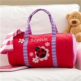 Ladybug Embroidered Duffel Bag - 10221-B