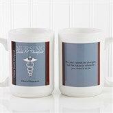 Medical Professions Personalized Coffee Mug- 15 oz.- White - 10223-L