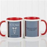 Medical Professions Personalized Coffee Mug- 11oz.- Red - 10223-R