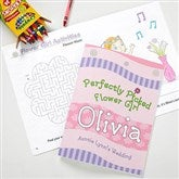 Perfectly Picked Flower Girl Personalized Coloring Activity Book & Crayon Set - 10246