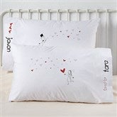 Blown Away By Love Personalized Wedding Pillowcase Set - 10249