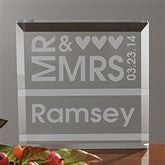 Mr. & Mrs. Personalized Crystal Keepsake - 10300