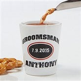 Groomsmen Personalized Shot Glass