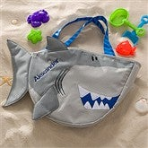 Embroidered Shark Beach Tote with Toy Set - 10310