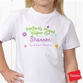 Perfectly Picked Flower Girl Personalized Hanes® Youth T-Shirt - 10312-YCT