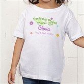 Perfectly Picked Flower Girl Personalized Toddler T-Shirt - 10312-TT